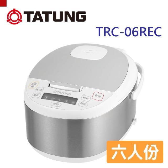 【TATUNG 大同】6人份電子鍋(TRC-06REC)