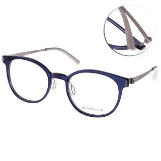 【VYCOZ 眼鏡】百搭半圓框款(藍-銀#HILLY BLU-TITAN-G)
