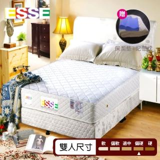 【ESSE御璽名床】健康記憶硬式床墊 5*6.2尺 雙人(加贈記憶枕*2+同尺寸保潔墊*1)