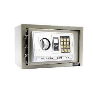 【TRENY】三鋼牙-電子式保險箱-小-灰 HD-0976(門栓3實心鋼柱)