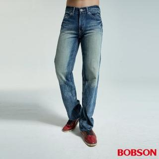 【BOBSON】男款中直筒褲褲(藍1732-53)/