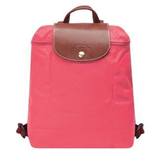 【LONGCHAMP】經典LE PLIAGE系列摺疊後背包(牡丹粉色1699089-A27)