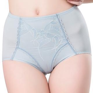 【思薇爾】羽霓精靈系列M-XXL蕾絲刺繡高腰三角修飾褲(星晨灰)