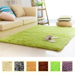 【幸福揚邑】舒壓長毛羊絲絨超軟防滑吸水地墊地毯-共六色(140x200cm)