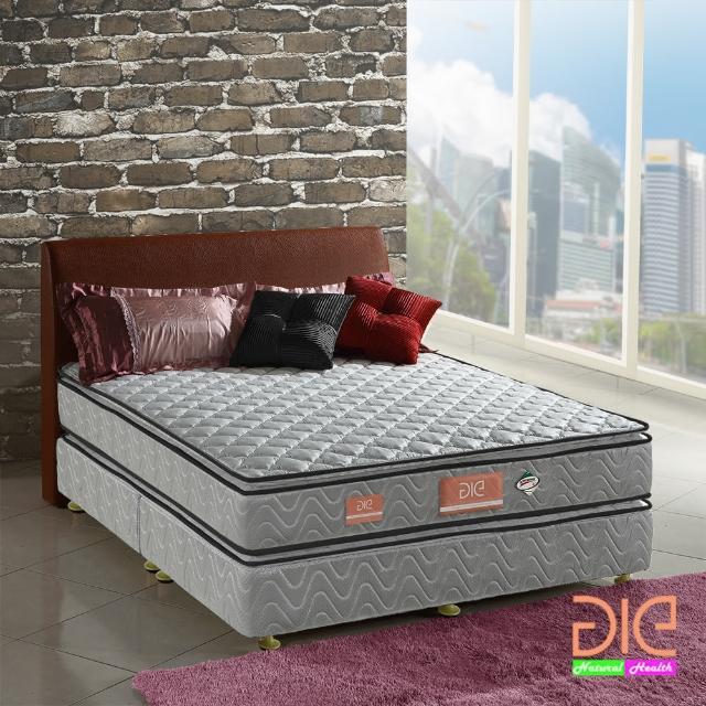 【aie享愛名床】竹碳+3M防潑水+記憶膠真四線獨立筒床墊-雙人加大6尺(經濟型)