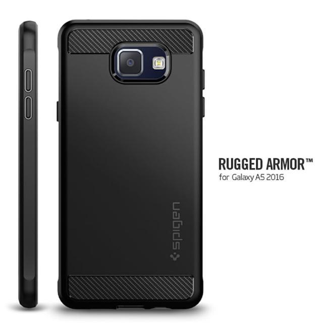 【Spigen】Galaxy A5 Rugged Armor彈性防震保護殼-黑