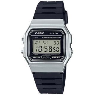 【CASIO 卡西歐】數位顯示運動腕錶-黑(F-91WM-7ADF)