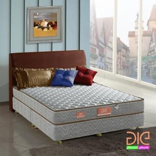 【aie享愛名床】竹碳+3M防潑水二線彈簧床墊-雙人加大6尺(經濟型)