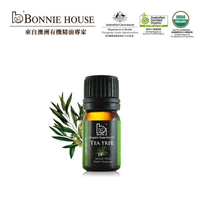 【Bonnie House】雙有機認證 茶樹精油5ml