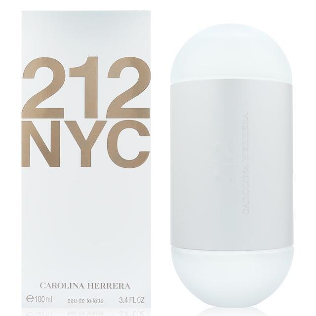 【Carolina Herrera】212都會女性淡香水100ml+隨機針管香水一份(熱銷明星品)