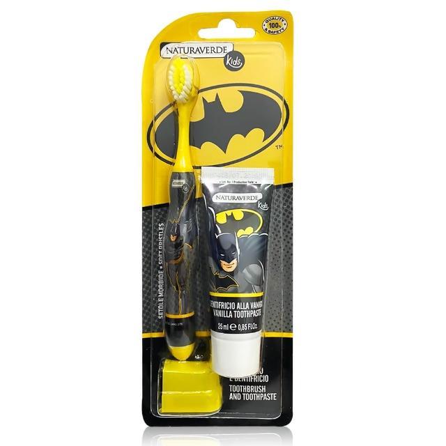 【義大利原裝進口】Batman口腔保健組(牙刷*1、牙膏25ml*1)