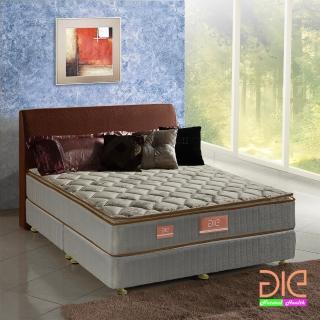 【aie享愛名床】竹碳 涼感紗 乳膠真三線彈簧床墊-雙人加大6尺 實惠型