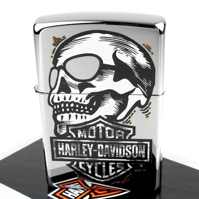 【ZIPPO】美系-哈雷-Harley-Davidson-Skull骷髏圖案設計打火機