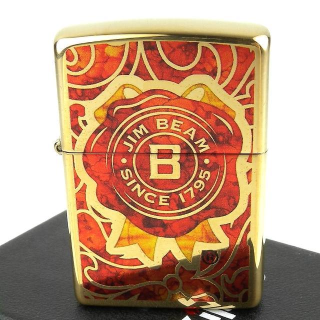 【ZIPPO】美系-JIM BEAM金賓波本威士忌圖案設計打火機