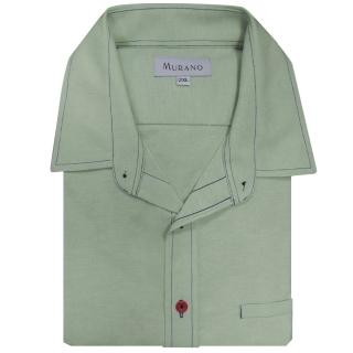 【MURANO】CVC牛津布長袖襯衫(粉綠色)