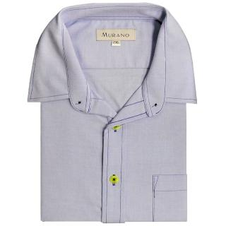 【MURANO】CVC牛津布長袖襯衫(粉藍色)