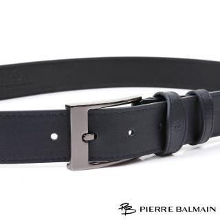 【PB-皮爾帕門】雙車邊亮藍 頭層牛皮休閒針扣皮帶(500)