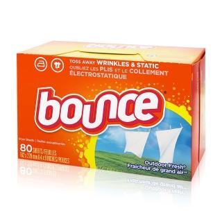 【美國進口 Bounce】烘衣柔軟片(80片)