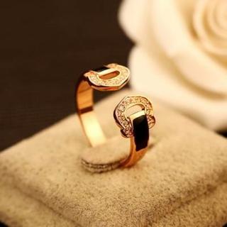 ~米蘭 ~玫瑰金戒指鑲鑽 飾品 精美簡約大方 七夕情人節生日 73by6