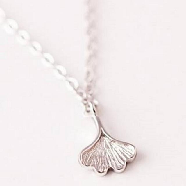 【米蘭精品】項鍊流行銀飾品(獨特葉子復古簡約母親節生日情人節禮物73as24)
