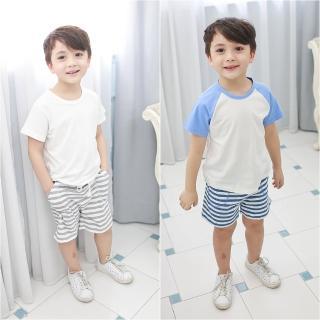 【baby童衣】條紋運動休閒短褲 60029(共2色)
