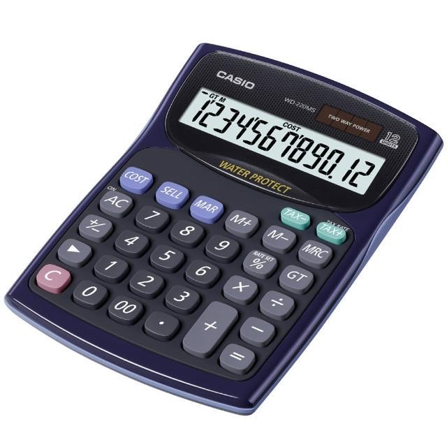 【CASIO】國家考試機型12位數計算機(WD-220MS-BU)