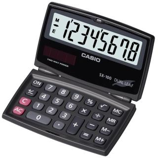 【CASIO】國家考試用摺疊攜帶型8位數計算機(SX-100)