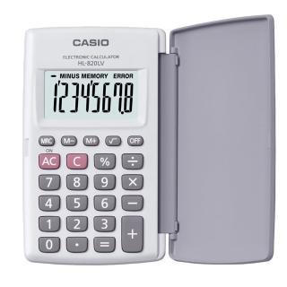【CASIO】8位數國家考試專用輕薄掀蓋式計算機(HL-820LV-WE)