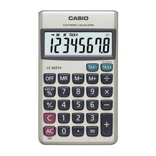 【CASIO】8位數大字幕顯示攜帶型計算機(LC-403TV)