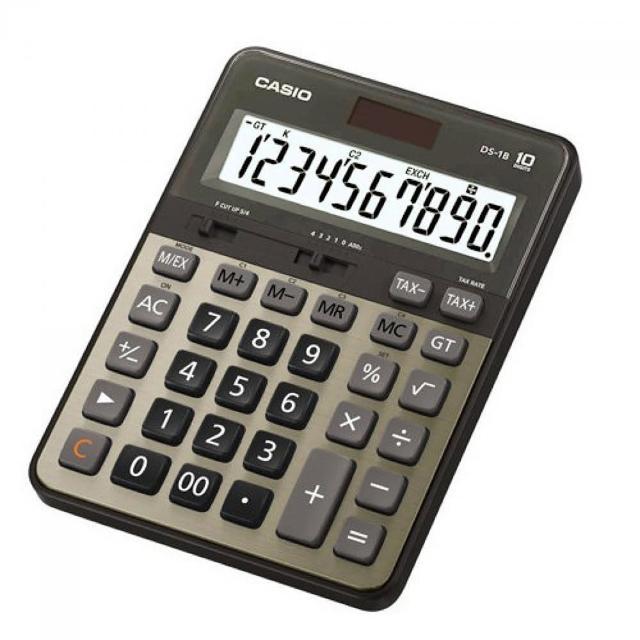 【CASIO】10位數頂級桌上型計算機(DS-1B-GD)