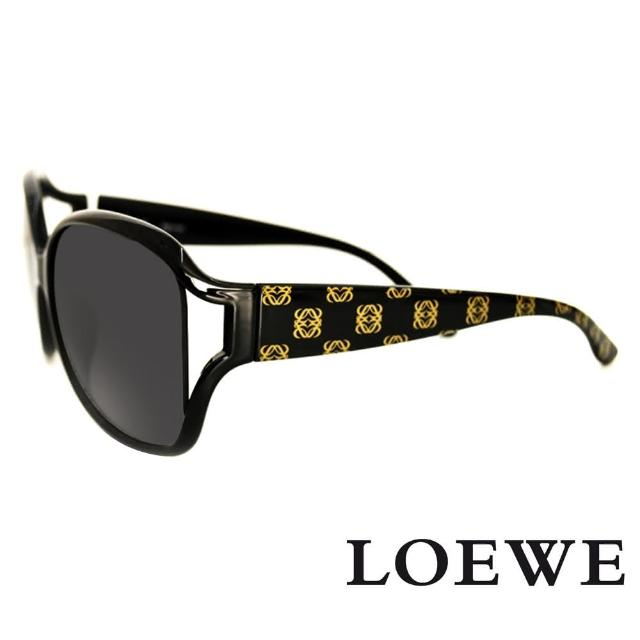 【LOEWE】西班牙皇室品牌羅威經典LOGO太陽眼鏡(黑 SLW705-0Z42)