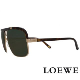 【LOEWE】西班牙皇室品牌軍用質感太陽眼鏡(豹紋 SLW404-316P)