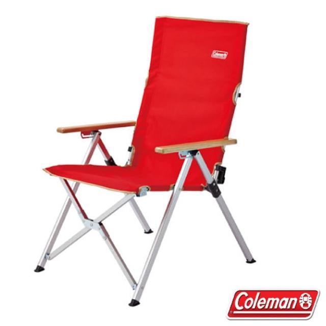 【美國 Coleman】輕量化LAY戶外躺椅 可三段式調整.折疊椅.帳蓬導演椅/附收納袋(CM-26744 紅)