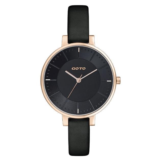 【GOTO】緣起不滅簡約時尚手錶-IP玫x黑(GL1040L-43-341)