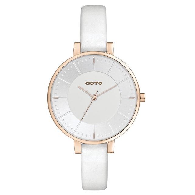 【GOTO】緣起不滅簡約時尚手錶-IP玫x白(GL1040L-42-241)
