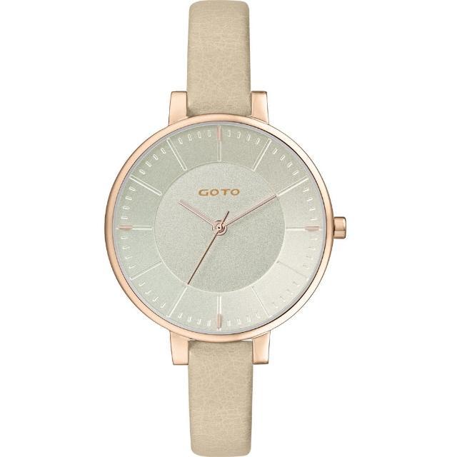 【GOTO】緣起不滅簡約時尚手錶-IP玫x金(GL1040L-41-141)