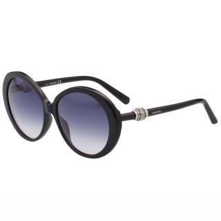 【SWAROVSKI】-圓框 太陽眼鏡SW130(黑色)