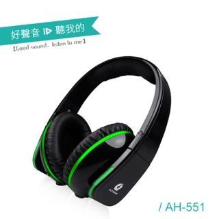 【ALTEAM我聽】AH-551 內建耳擴式耳機(質感黑)