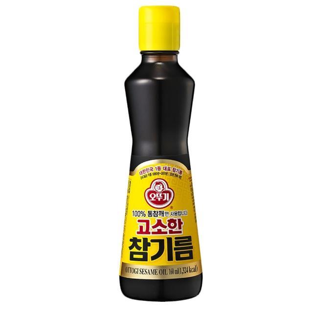 【韓國不倒翁OTTOGI】100%純芝麻油(160ml)