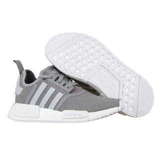 【Adidas】Originals NMD R1系列潮流織紋網面慢跑鞋(灰色/灰白)