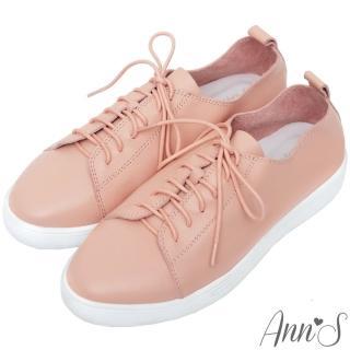 【Ann'S】第二代超軟真牛皮綁帶小白鞋(粉)