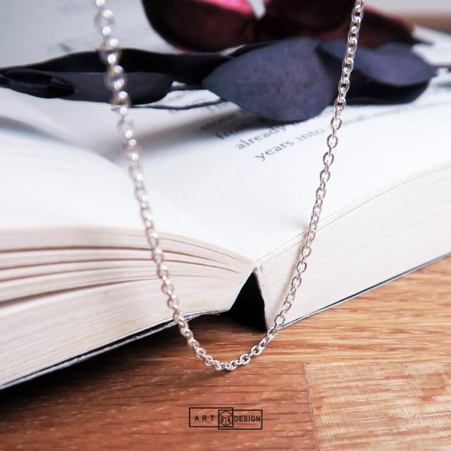 【ART64】經典圓圈細鍊 純銀長項鍊 毛衣鍊(22吋925純銀項鍊)