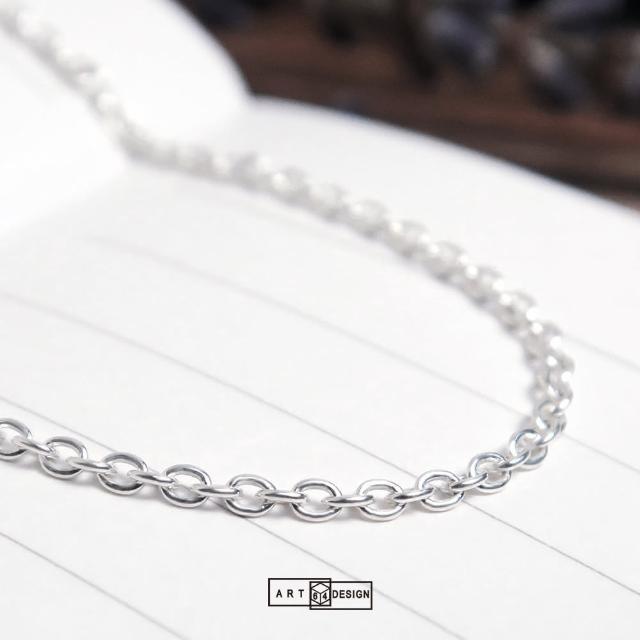 【ART64】經典圓圈細鍊 純銀長項鍊 毛衣鍊(24吋925純銀項鍊)