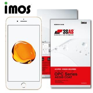 【iMOS 3SAS】Apple iPhone 7 plus  疏油疏水 螢幕正面+背面超值組合貼