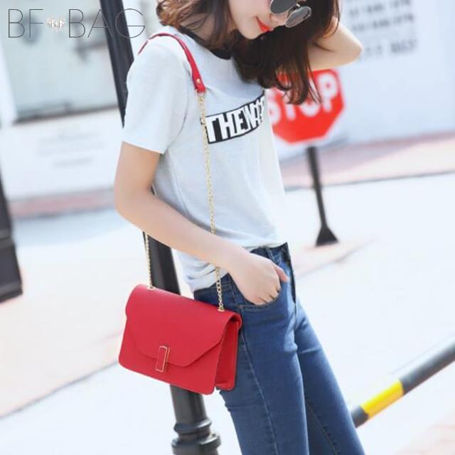 【BF】維多莉亞信封時尚金鍊肩背包(共4色)