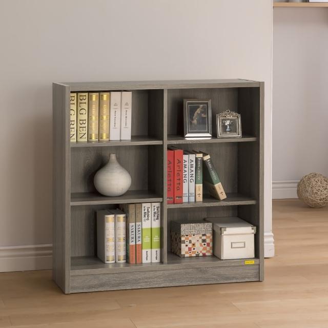 【康迪仕】寬六格書櫃-3D木紋-深木色(收納櫃/置物櫃)
