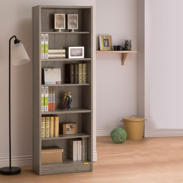 【COMDESK】六格高櫃-3D木紋-深木色(書櫃/收納櫃)