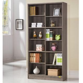 【COMDESK】十二格書櫃-3D木紋-深木色(置物櫃/收納櫃)