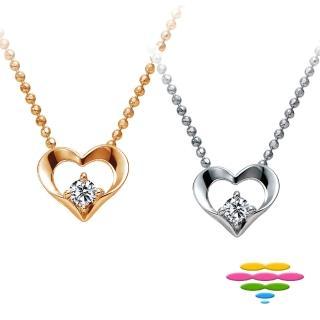 【彩糖鑽工坊】心有獨鍾系列 愛心造型鑽石項鍊(14K CL-PD188)