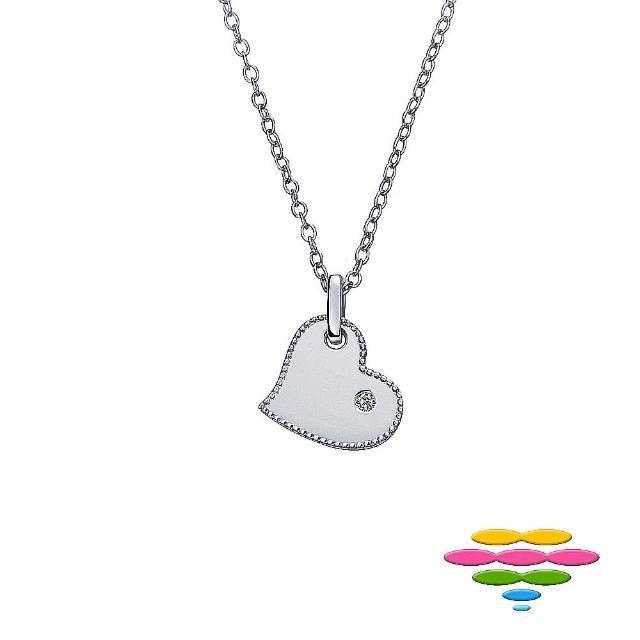 【彩糖鑽工坊】心有獨鍾系列 愛心造型鑽石項鍊(14K CL-PD189)